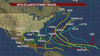 2010 storm tracks