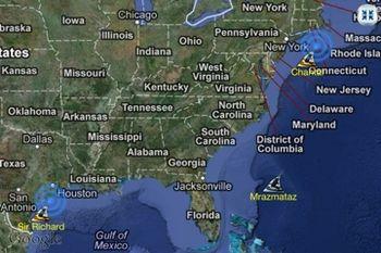 Tiger shark map